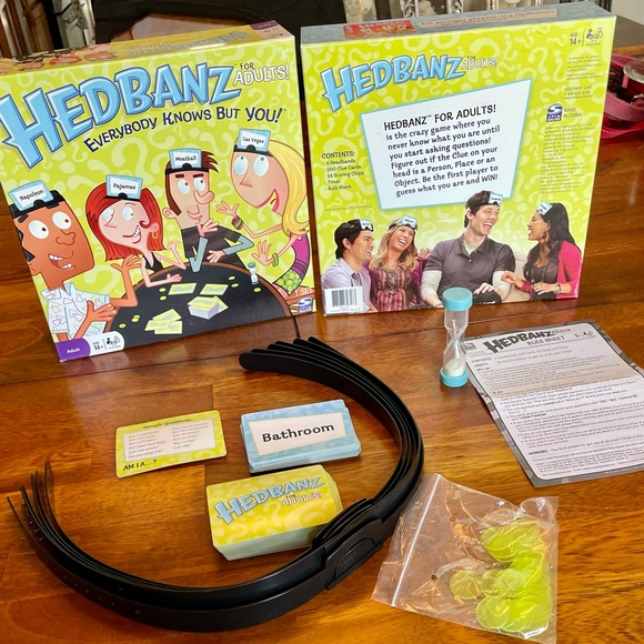 Headbanz for Adults Card Game - Complete Set - EUC